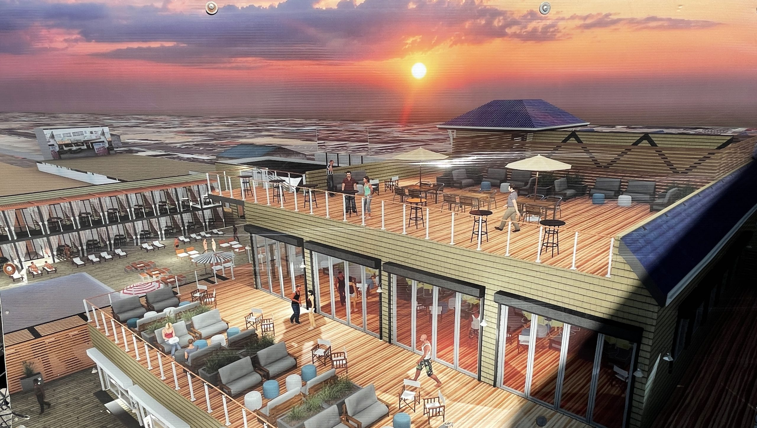 A rendering of a potential final layout of the Dupont Avenue Pier in Seaside Heights. (Photo: Daniel Nee)