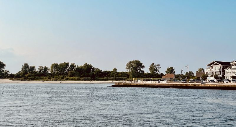 The mouth of the Manasquan River at Manasquan Inlet. (Photo: Daniel Nee)