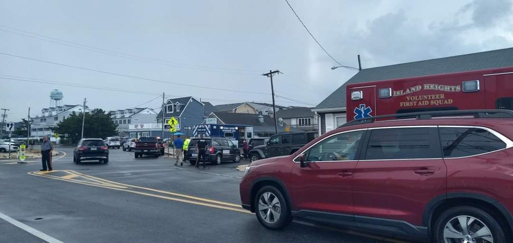 Emergency vehicles in South Seaside Park, N.J. (Credit: Portraits of the Jersey Shore/ Facebook)