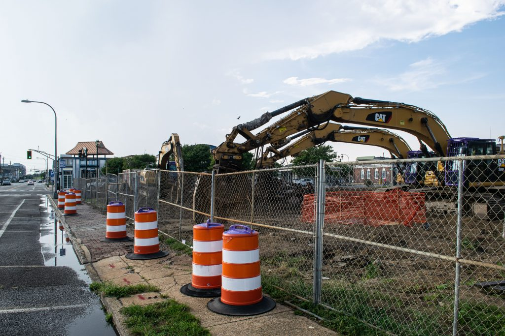 The Boulevard in Seaside Heights following the demolition of the steel structure between Hamilton and Webster avenues, Aug. 26, 2021. (Photo: Daniel Nee)