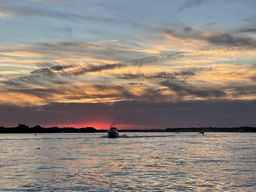 A stunning sunset on Barnegat Bay, Sept. 25, 2021. (Photo: Daniel Nee)