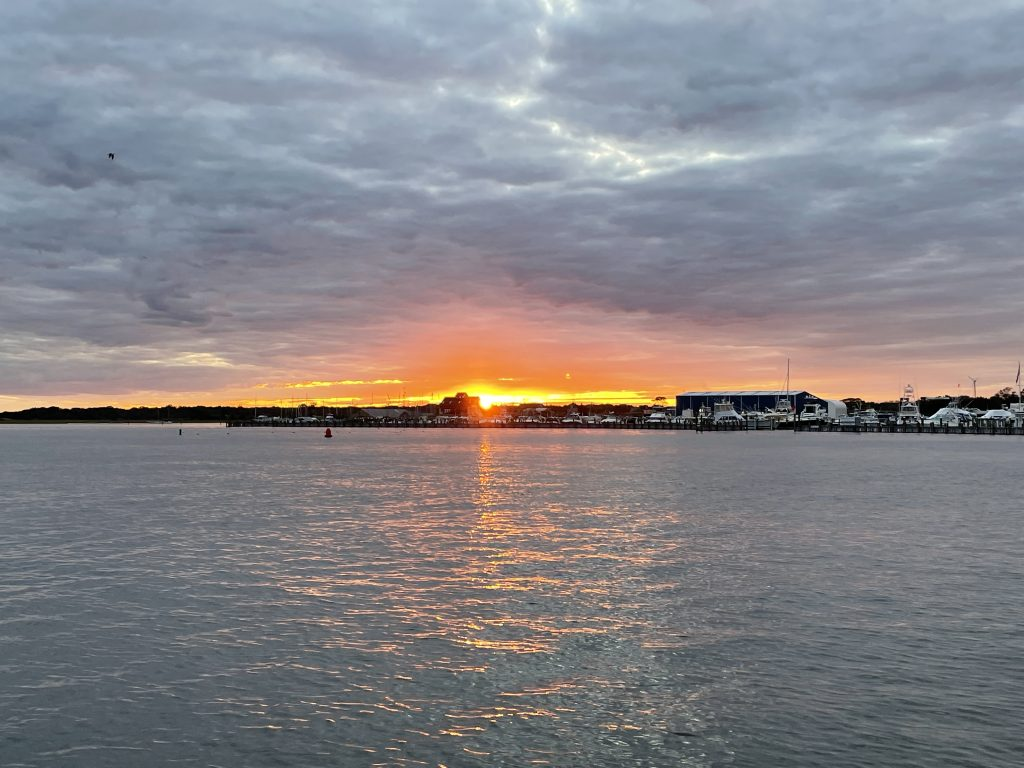Sunset on Barnegat Bay, Sept. 30, 2021. (Photo: Daniel Nee)