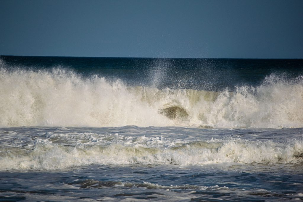 Rough surf and large waves off Brick Township, Ocean County, N.J., Sept. 10, 2021. (Photo: Daniel Nee)