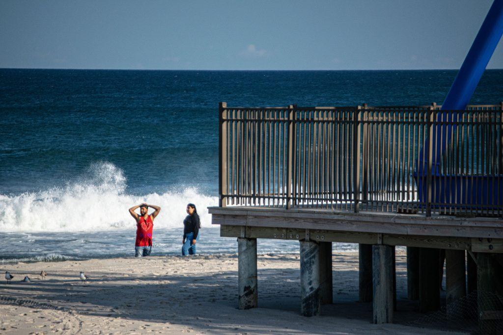 Rough surf and large waves off Seaside Heights, Ocean County, N.J., Sept. 10, 2021. (Photo: Daniel Nee)