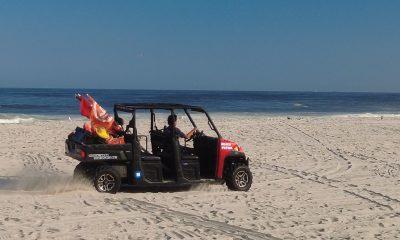 A Seaside Heights Beach Patrol ATV patrols the sand, Sept. 18, 2021. (Photo: Daniel Nee)