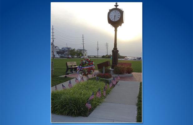 The 9/11 memorial clock in Seaside Park. (Photo: Seaside Park Borough)