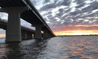 Route 37, Thomas A. Mathis and J. Stanley Tunney Bridges. (Photo: Daniel Nee)