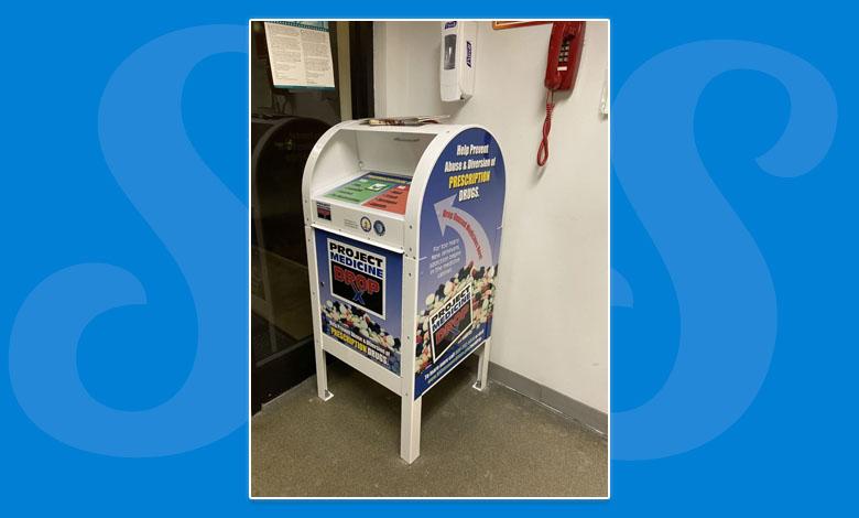 A prescription drop box at Seaside Park police headquarters. (Photo: Seaside Park Police)